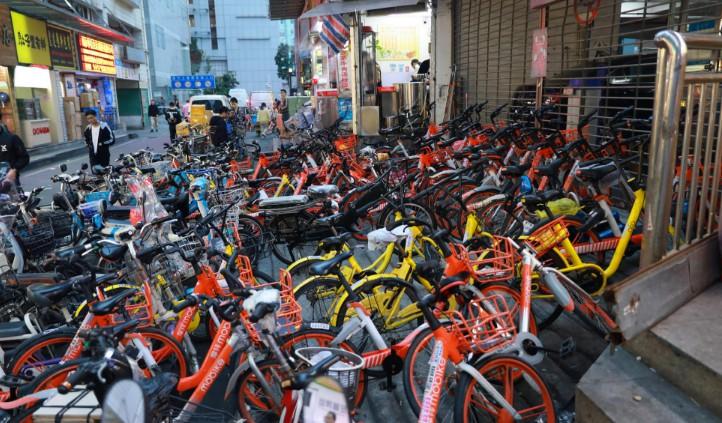 深圳城管:共享单车企业20天内要清理完有碍市容的单车