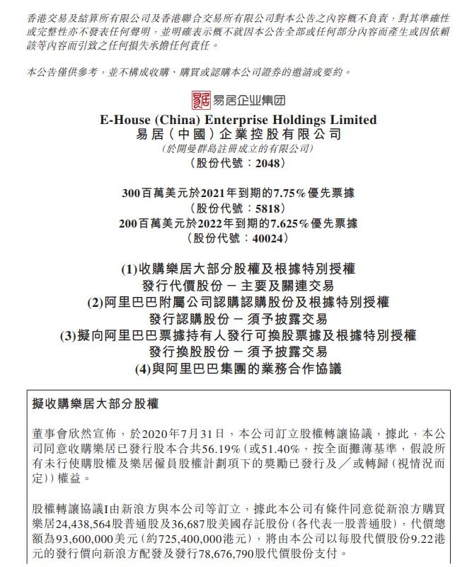 阿里将认购8.2亿港元易居股份 双方达成战略合作_零售_电商之家