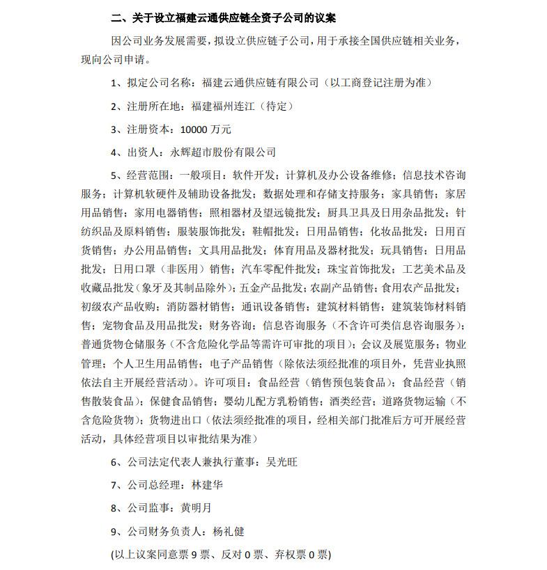 永辉超市将出资20亿成立酒类业务、供应链子公司_零售_电商之家